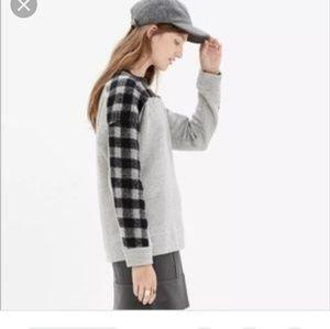 Madewell Buffalo Plaid Sweatshirt Size Medium